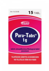 PARA-TABS 1 g tabl, kalvopääll 15 kpl